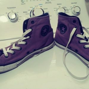 Converse size 7 purple